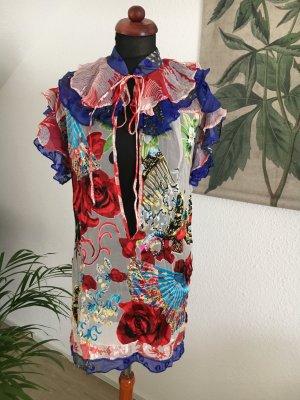 Designer Tunika Minikleid von MEGHAN Hippie Style 36 38 100% Seide