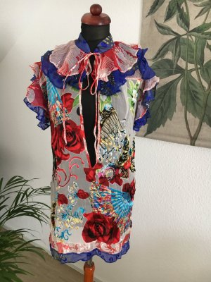 Designer Tunika Minikleid von MEGHAN Hippie Style 36 38 100% Seide blogger instagram influencer Item trend
