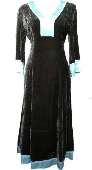 *  Designer  Velvet   Midi-Kleid  *   NEU   *  Gr. L  *