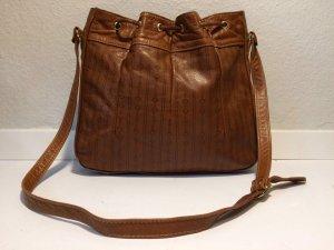 Pouch Bag cognac-coloured leather