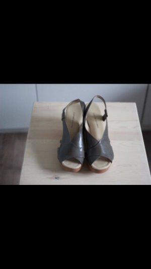 Designer wedges COSTUME NATIONAL Gr. 39 Leder NP 300€