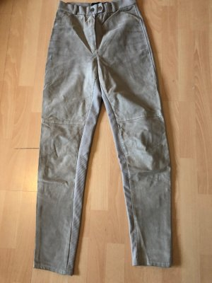 Mauritius Leather Trousers sand brown