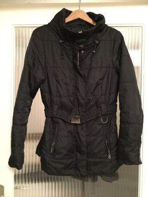 Designer Winter-Jacke schwarz