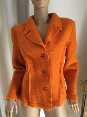 Designer Wolle Blazer orange Neu Gr 42 Np 179