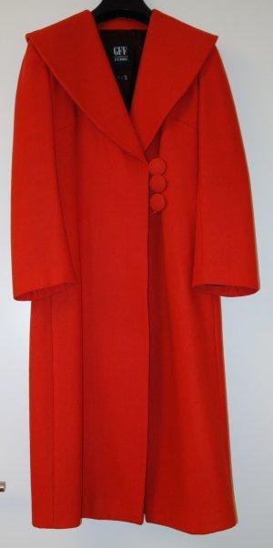 Gianfranco Ferré Cappotto in lana rosso-rosso neon Lana