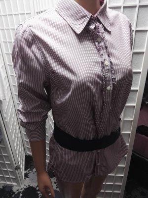 Designerhemd Blusenhemd Hilfiger tailliert gestreift