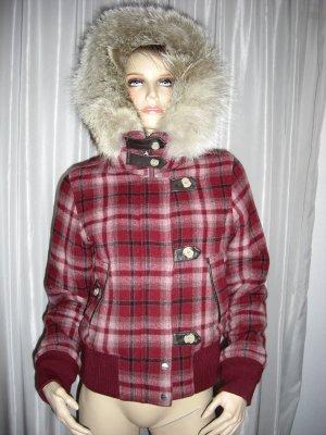 Woolrich Doudoune bordeau-rouge carmin laine