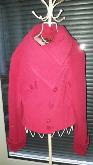 Rinascimento Giacca di lana rosso mattone