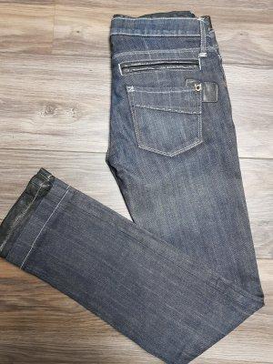 Designerjeans NEO LA * Jeans meets Leder * neu * Gr. 27