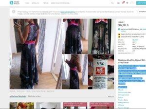 Designerkleid im Gucci Stil - echt Seide