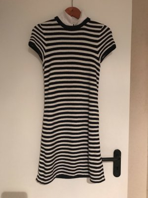 Designerkleid kurzärmlig schwarz/Weiß Gr. XS(34)