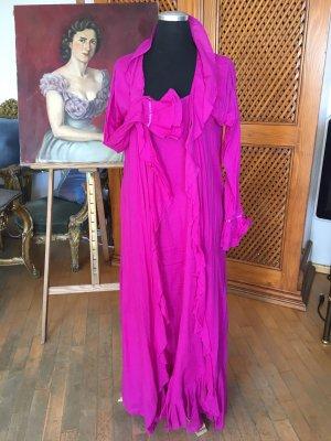 Designerkleid mit Mantel Pink