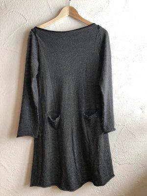 Hannes Roether Vestido de lana negro-gris