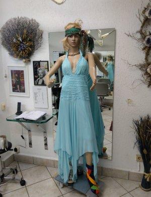 1.2.3 Paris Vestido de cuello Halter azul bebé Poliéster