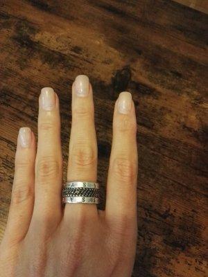 Designerring Modeschmuck Ring Thomas Sabo Silber 925 mit Steinchen