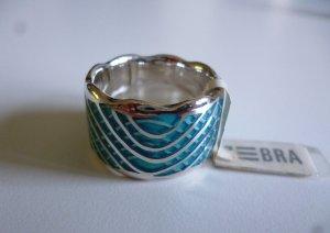 Designerring Silber/Türkis