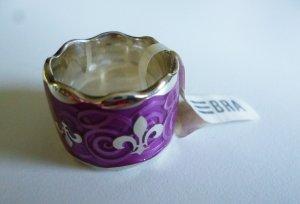 Designerring silber/violett