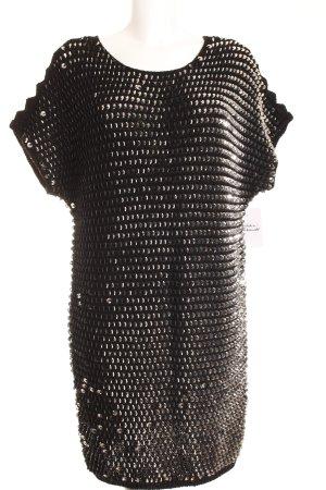 Designers Remix Charlotte Eskildsen Kurzarmpullover schwarz-silberfarben