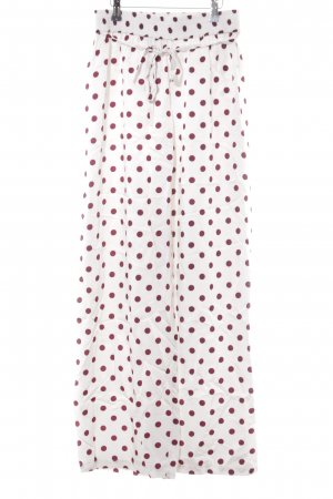 Designers Remix Charlotte Eskildsen Pantalon large blanc-rouge carmin