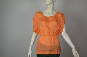 Designers Remix Charlotte Eskildsen schöne Seidenbluse Gr. 36 orange 100% Seide Top