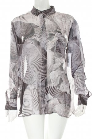 Designers remix collection Seidenbluse grau-schwarz abstraktes Muster