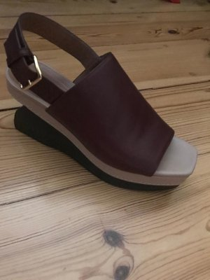 Marni Wedge Sandals bordeaux
