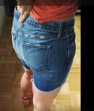 JBRAND Pantalón corto de tela vaquera gris pizarra Algodón