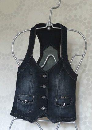 Designerstück - Bezaubernde Jeansweste - Einzelstück - neu - Gr. 36