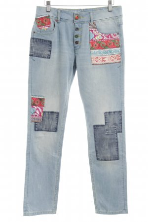 Desigual 3/4-jeans etnische print extravagante stijl