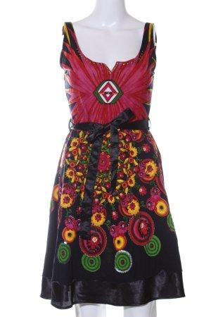 Desigual A-Linien Kleid Blumenmuster Casual-Look