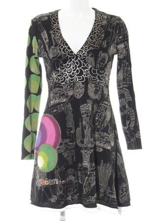 Desigual A-Linien Kleid abstraktes Muster Casual-Look