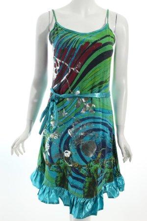 Desigual A-Linien Kleid abstraktes Muster extravaganter Stil