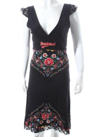 Desigual A-Linien Kleid Blumenmuster Logostickerei