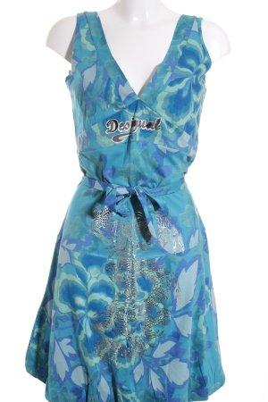 Desigual A-Linien Kleid florales Muster Casual-Look