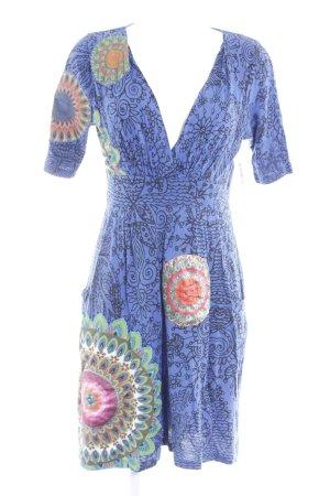 Desigual A-Linien Kleid florales Muster Hippie-Look