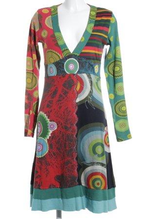 Desigual A-Linien Kleid Mustermix Casual-Look