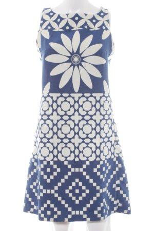 Desigual A-Linien Kleid wollweiß-kornblumenblau abstraktes Muster Elegant