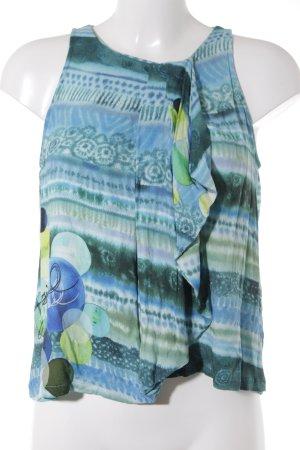 Desigual Mouwloze blouse batik patroon Boho uitstraling