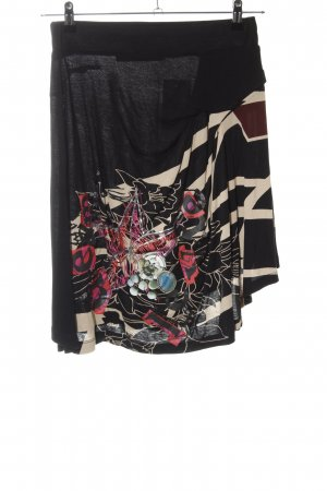Desigual Asymmetry Skirt black abstract pattern casual look