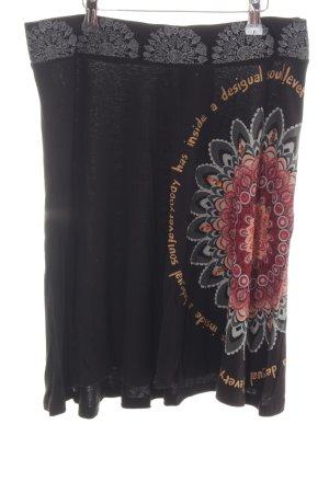 Desigual Falda asimétrica estampado con diseño abstracto look casual