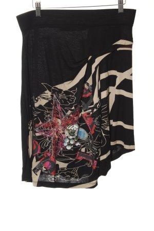 Desigual Falda asimétrica Mezcla de patrones Logotipo bordado