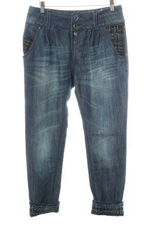 Desigual Pantalon «Baggy» bleu foncé style bohème