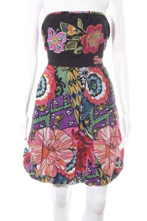 Desigual vestido de globo estampado floral look retro