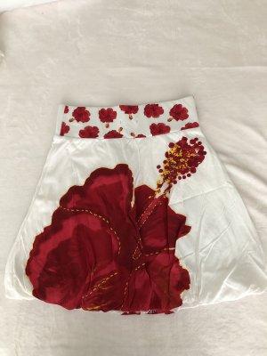 Desigual Balloon Skirt white-dark red