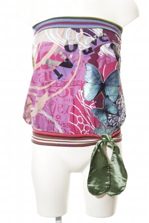 Desigual Bandeau Top mixed pattern casual look