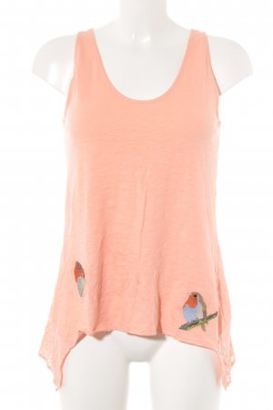 Desigual Basic Top apricot Animalmuster Casual-Look