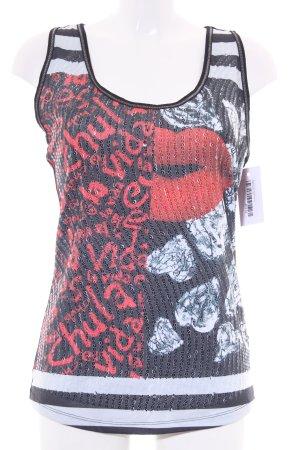 Desigual Basic Top Motivdruck Street-Fashion-Look