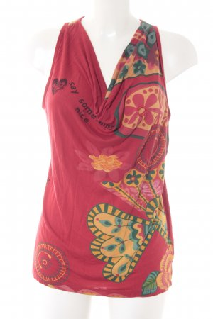 Desigual Basic Top rot-goldorange florales Muster Street-Fashion-Look