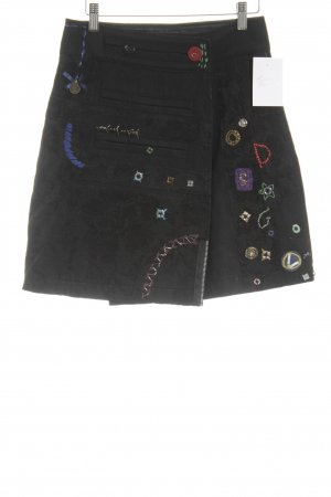 Desigual Pencil Skirt embroidered lettering Ornamental trimming