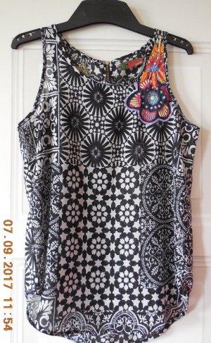 Desigual Mouwloze blouse veelkleurig Polyester